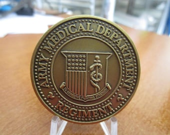 United States Army Medical Department Regiment Challenge Coin #3399