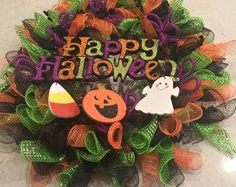 Adorable Halloween Wreath - 23 x 23""