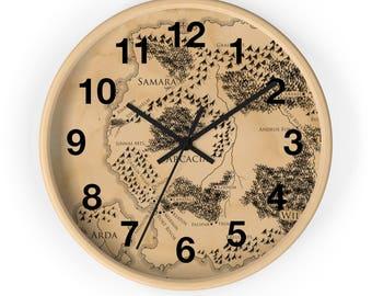 Ilyon Chronicles Map Wall Clock