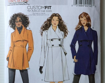 Butterick 5685 multi-size sewing pattern - double breasted winter coat