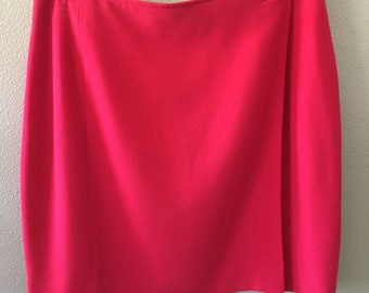 preview nordstrom red wrap skirt - size 12 p