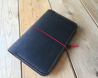 Field Notes Cover - Crazy Horse Leather - Journal Cover - Choice of Thread Colour