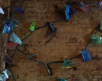Hand Made Primitive Decorated String of Lights