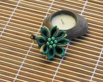 Kanzashi flower two colors