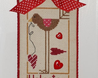 Finished Cross Stitch 'VALENTINE""