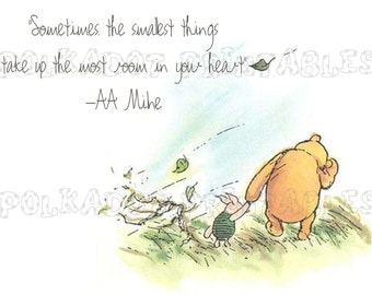 Classic Winnie the Pooh and Piglet Card - Instant Download - 3 PDFs