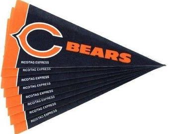 "Chicago Bears NFL Mini Pennants, 4"" x 9"""