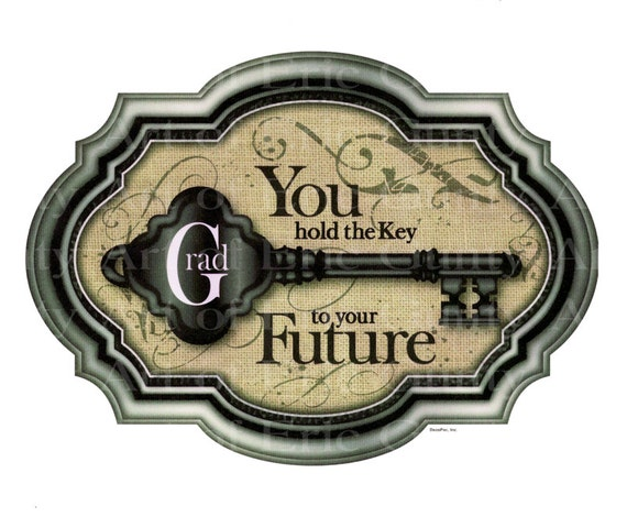 Key To The Future Graduation - Edible Cake and Cupcake Topper For Birthday's and Parties! - D22185