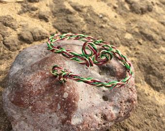 Wire weaving adjustable arm bracelet