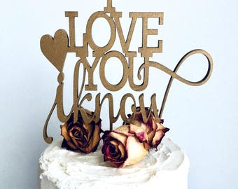 Star wars wedding cake toppers - Gold - Wedding Cake Topper - I Love You I Know #110018