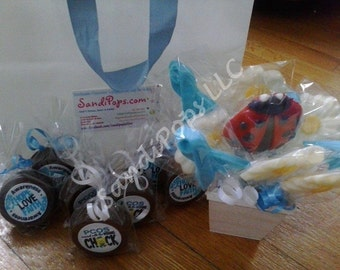 FREE AUCTION ITEM w purchase of 100 Awareness Fundraising Logo Lollipop Party Favors