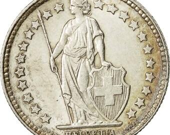 switzerland 1/2 franc 1952 bern ef(40-45) silver km23