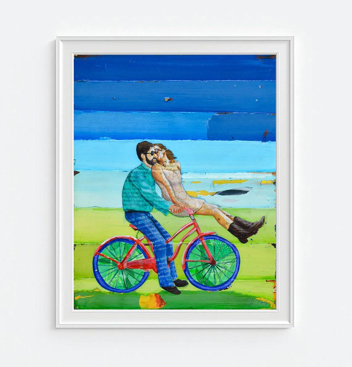 Fresh Handlebars -Danny Phillips ART PRINT or CANVAS Bicycle biking  GB56