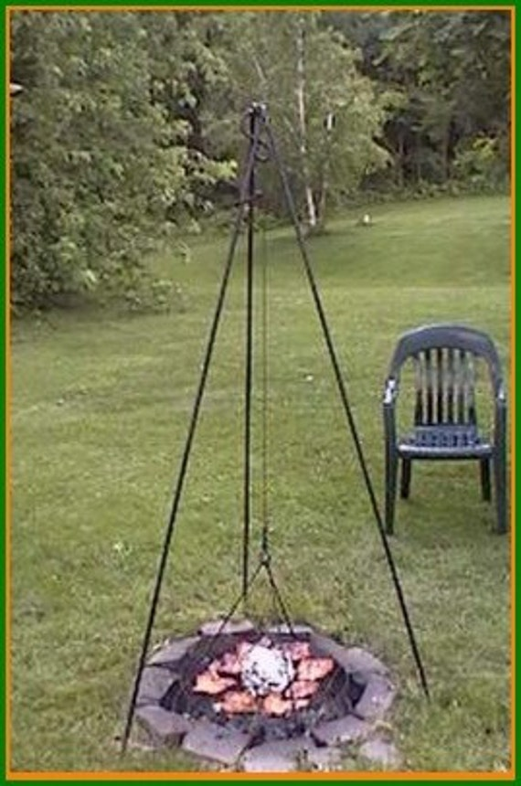 Big Woods Tripod Grill Wrought and Designed by Blacksmith (Giant 6' Tripod Model w/ 21.5