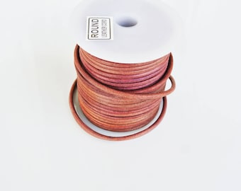 Mahogany leather, 2 meters, 3mm