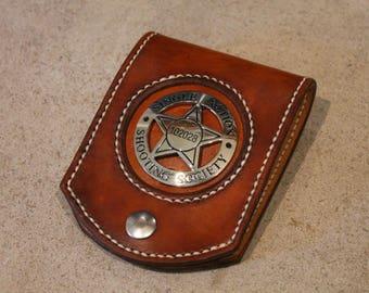 Basic Hand Stitched Leather Badge Holder