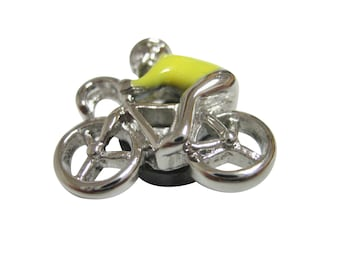 Bicyclist with Yellow Jacket Magnet