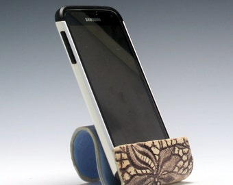 Ceramic cell phone holder, business card holder, sponge holder, recipe card holder/Ceramics and Pottery