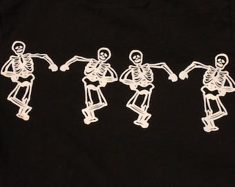 Toddler dancing skeleton long sleeve t-shirt