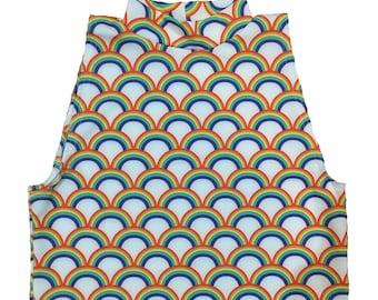 Rainbow Mermaid Turtleneck Crop Top