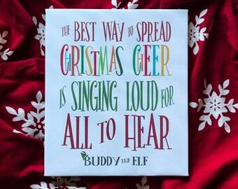 Buddy the Elf // Canvas Wall Art // Christmas Decor // Holiday Decor