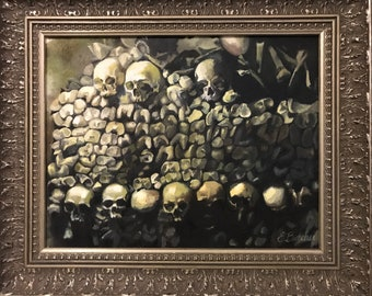 The Catacombs (original oil on canvas 11x14)