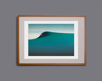 Surf art, surf gift, surfing, surfer, surf girl, wall art, surf decor, surf print, surf illustration, Cornwall, giclee, surfer, surfboard