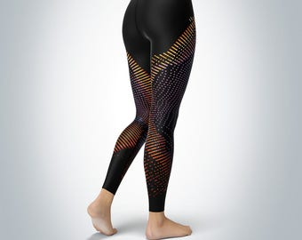 Seismic Fractal - Womens Yoga Pants/Leggings
