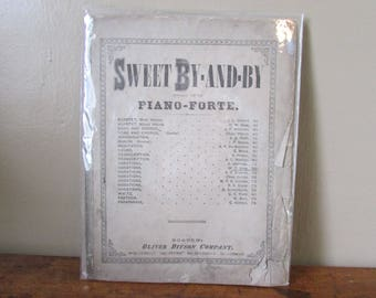 Antique Music - Vintage Piano Forte - Old Sheet Music