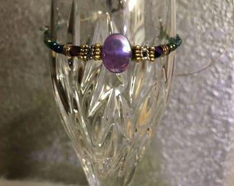 UNSIZED iridescent purple bracelet