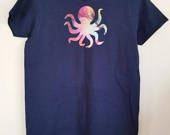 Women's Small Galactic Octopus Tshirt