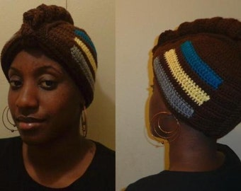 Corn Bread Fed, Crochet Mohawk Wrap