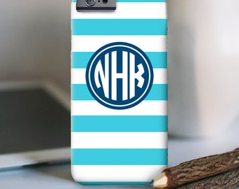 iPhone 7 Personalized Case  - Chunky Stripe monogram  - other models available