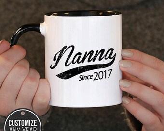 Nanna Since (Any Year) Nanna Gift, Nanna Birthday, Nanna Mug, Nanna Gift Idea, Baby Shower,, mug gift