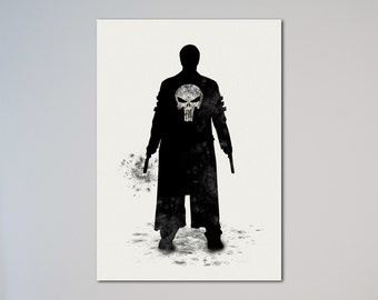The Punisher Poster Watercolor Print