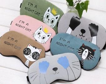 Sleep Mask- Cats - Travel Relax Sleeping Aid