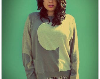 Upcycled Cashmere Sweater Beige Cream Jigsaw Jumper                     ReMade in England UK