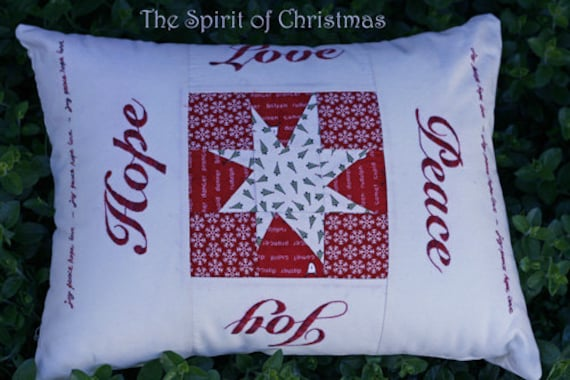 Spirit of Christmas Embroidered Cushion Pattern