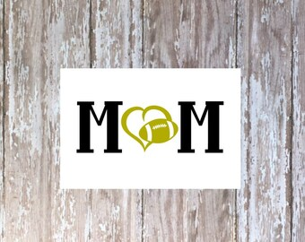 Football Mom decal, Football Mom tumbler decal, Football Mom Yeti decal, Football Mom car decal, Football Mom laptop decal