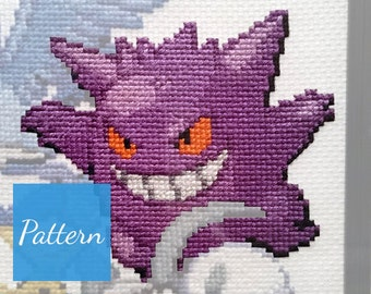 Gengar (Pokemon) Cross Stitch Pattern