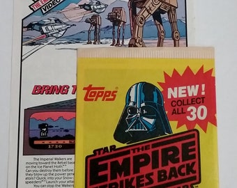 COMBO- Star Wars Empire Strikes Back Video Game AD and Unopened Photo Card