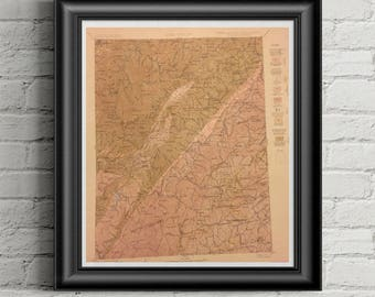 1907 North Carolina - South Carolina Pisgah Quadrangle Map