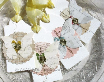 Elegant Luxe Butterfly Gift Tags No. 1-white-cream-bridesmaid gift tags-spring faire-garden party-gold-metallic
