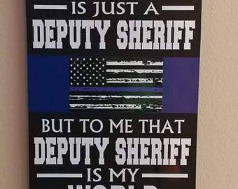 THIN BLUE LINE Personalized Police Wood Wall Plaques. Deputy Sheriff, Police Officer gifts, Police Wedding, Police Retirement.