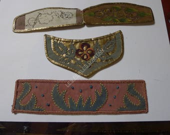 antique worksuedine embroidery 1930 hand made