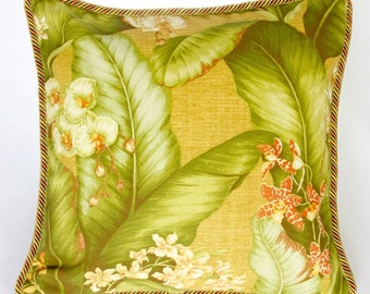 Tropical Pillow, Decorative Pillow, Cushions, Throw Pillow, Pillow Cover, Couch Cushions, Accent Pillows