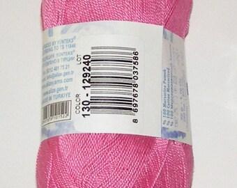 Alize Miss crochet thread size 10, 100% mercerized cotton, #130 pink