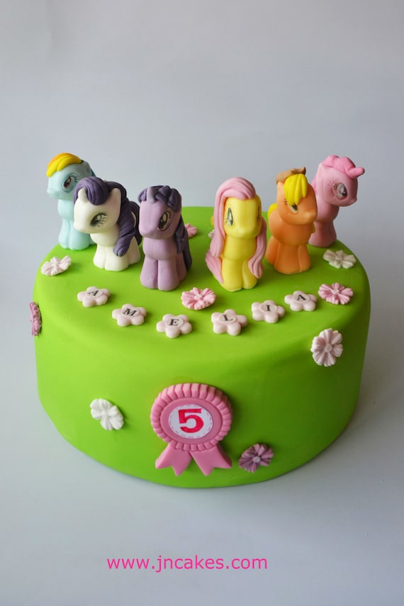 personalised edible cake decoration MY LITTLE PONY cake toppers
