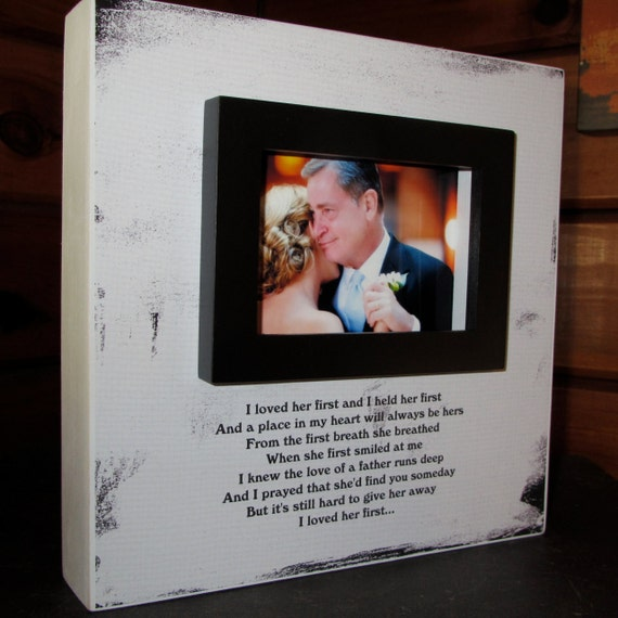 Father of the Bride Dad Wedding Picture Frame Wood box Frame I