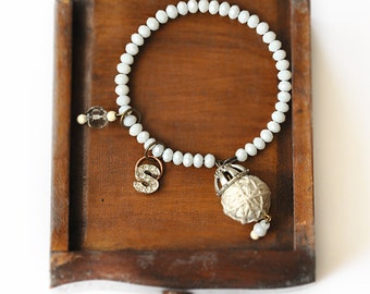 Personalized Bracelet - Custom Initial Bracelet - Rhinestone Monogram Bracelet - Personalized Jewelry